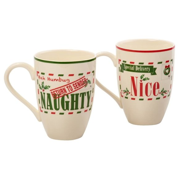 Lenox Holiday Naughty & Nice Mugs